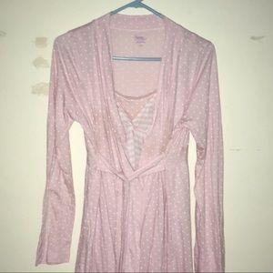 Motherhood Maternity Nursing Nightgown/Robe